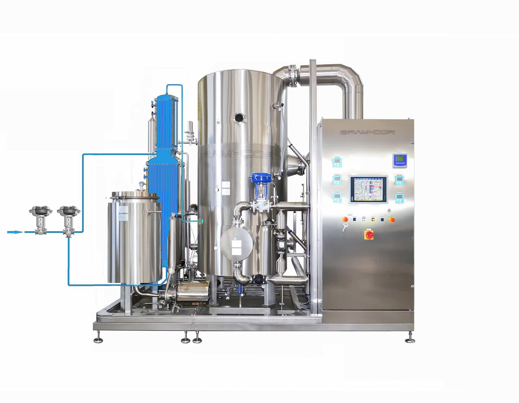 Vapor Compression Distillation process - Step 1-2