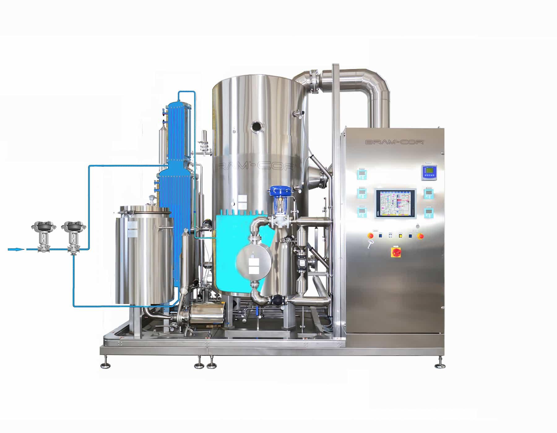 Vapor Compression Distillation process - Step 3