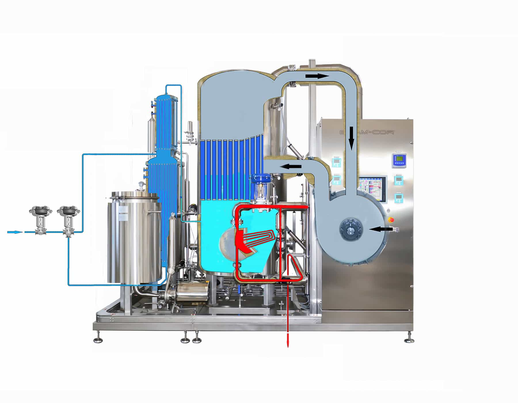 Vapor Compression Distillation process - Step 5-6