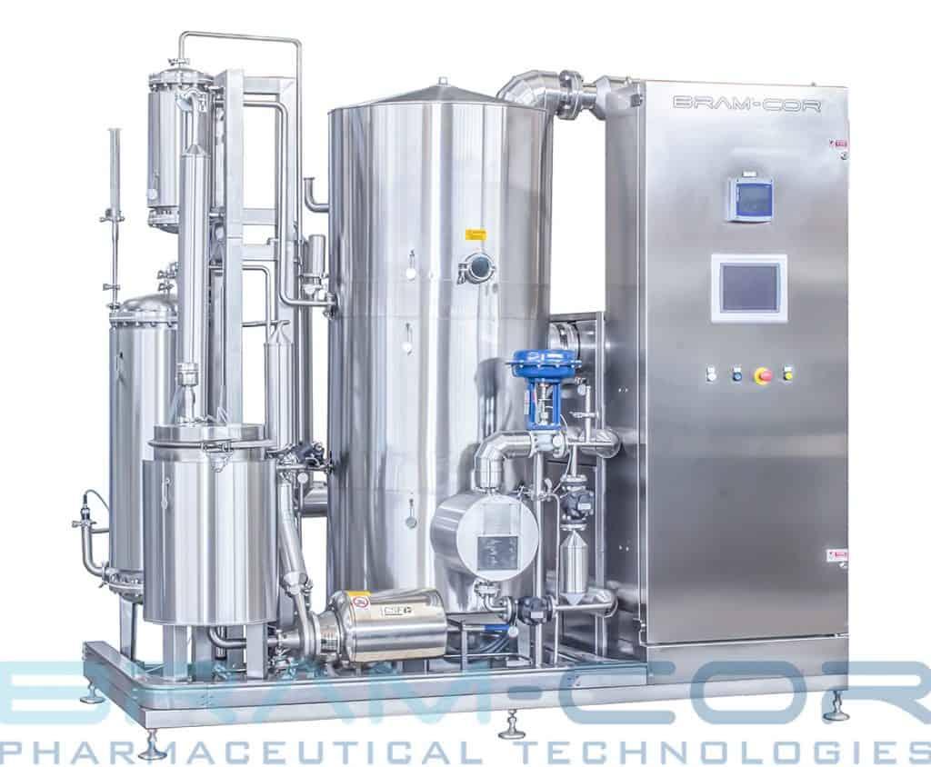 Vapor Compression Distiller - STMC ST 350 model, with steam heating