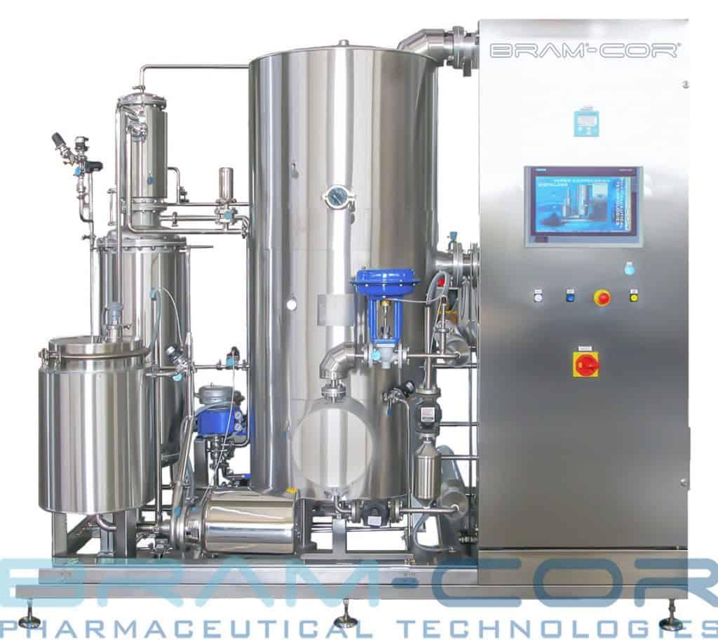 "Bram-Cor Manufacturing. A classic Vapor Compression Distiller (also called ""thermocompression still"")"